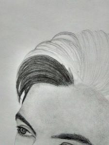 طراحی سیاه قلم طراحی چهره گالری شبنم