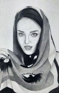 طراحی سیاه قلم طراحی چهره